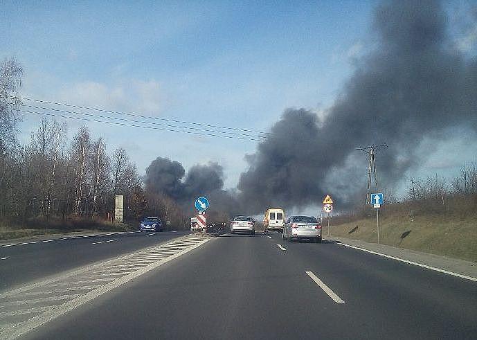 Duży pożar w Świebodzicach