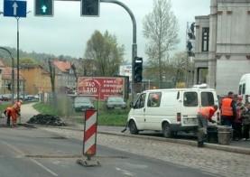 Korki na ulicy Wrocławskiej