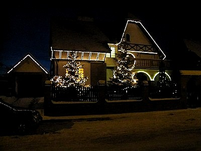 Najładniej oświetlone i przystrojone domy