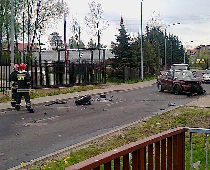 Cztery osoby ranne - zobacz zdjęcia