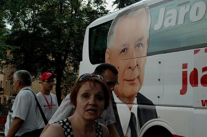 """Kaczyński z """"wizytą"""" w Wałbrzychu"""