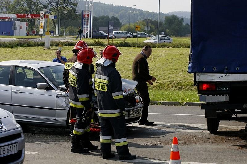 Wypadek obok Tesco
