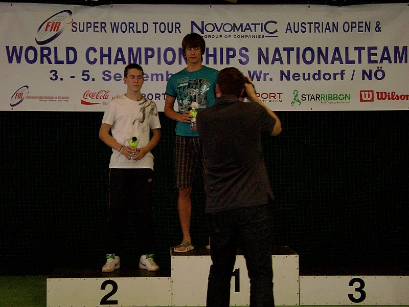 Michał podbija światowy racketlon