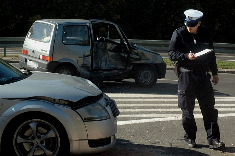 Wypadek na obwodnicy - zdjęcia