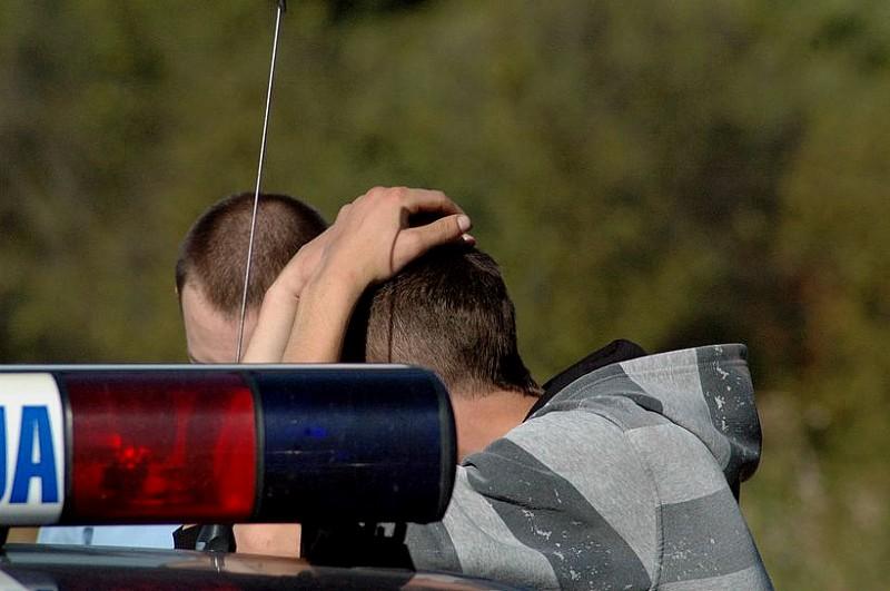 Schowali się przed policją w ...liściach