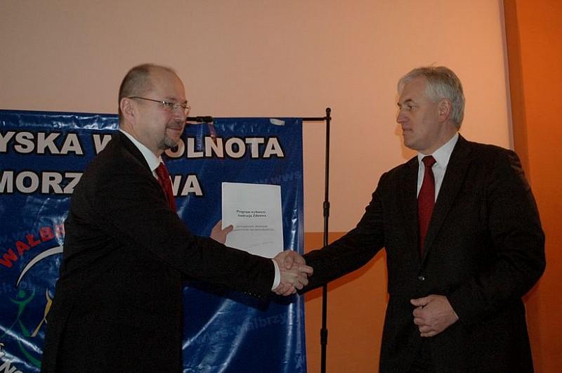 Zibrow poparł Lubińskiego