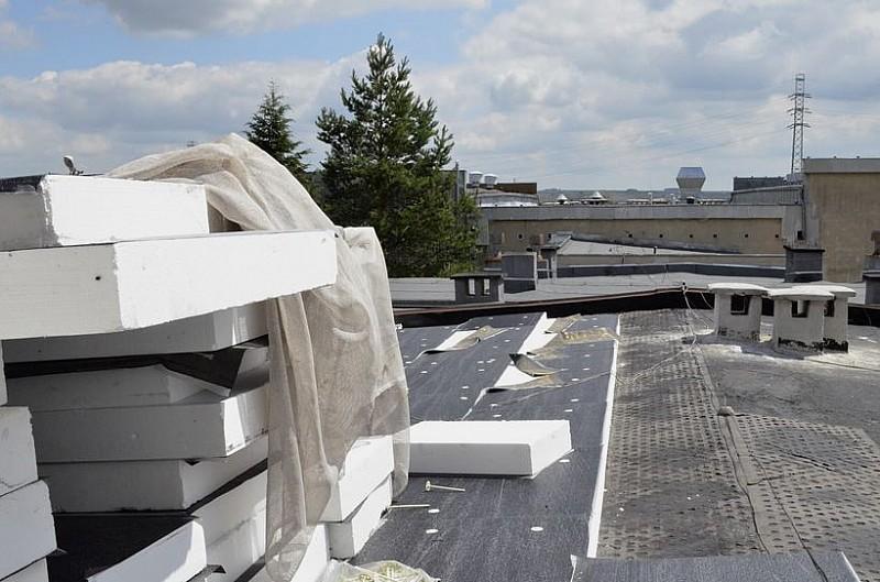 Trwa remont dachu na w ZS Nr 4