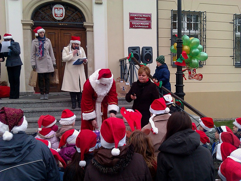 Mikołaj na rynku