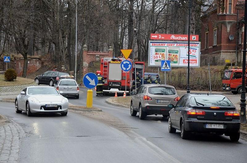 Zamknięta droga w Szczawnie - Zdroju
