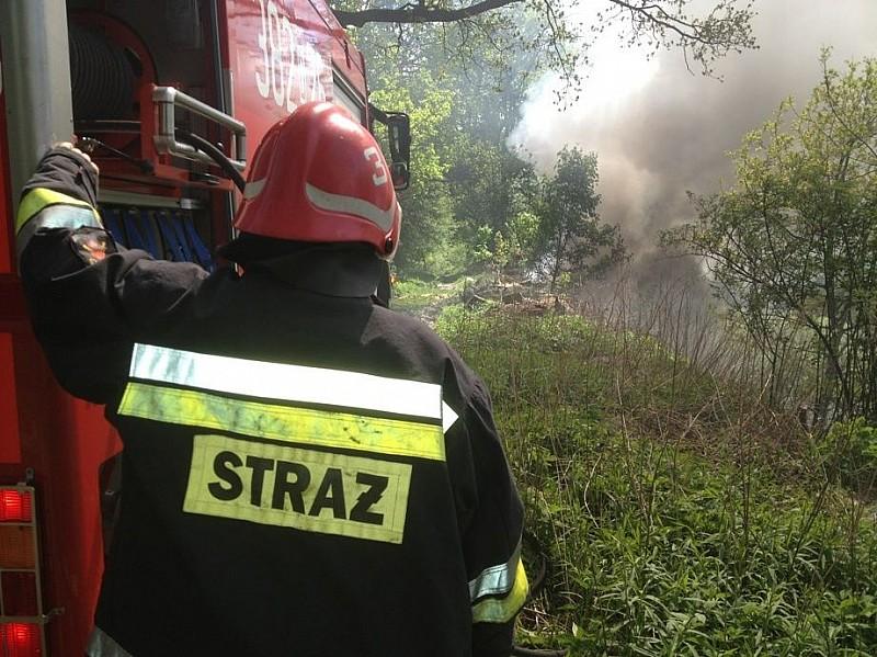 Pożar nielegalnego wysypiska śmieci