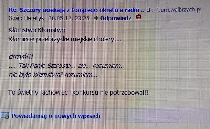 Matrix w UM w Wałbrzychu?