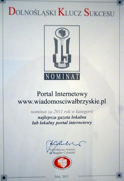 Nasz portal w finale Dolnośląskiego Klucza Sukcesu!