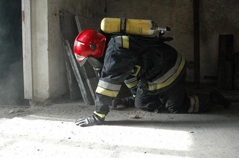 Pożar przy ulicy Niepodległości