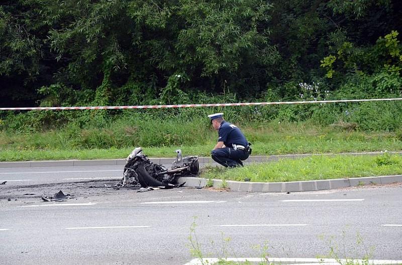 Motocyklista i pasażerka uciekli śmierci