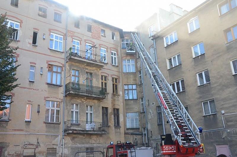 Pożar w centrum Świdnicy - foto/video