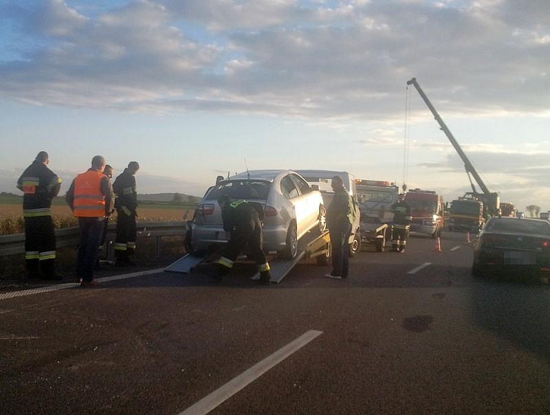 Duży wypadek w kierunku autostrady
