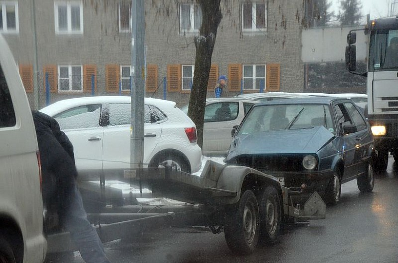 Kolizja na ulicy Wodnej w Świdnicy