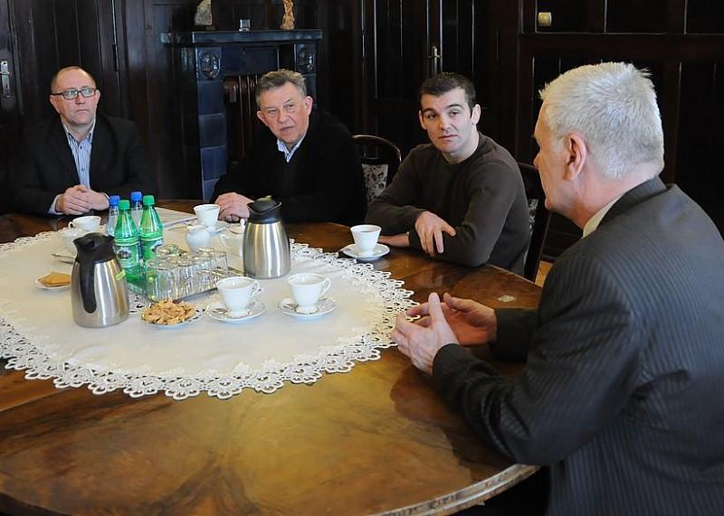 Zapaśnicy odwiedzili prezydenta