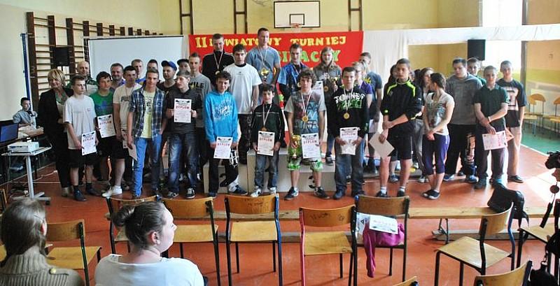 Siłacze w głuszyckim gimnazjum