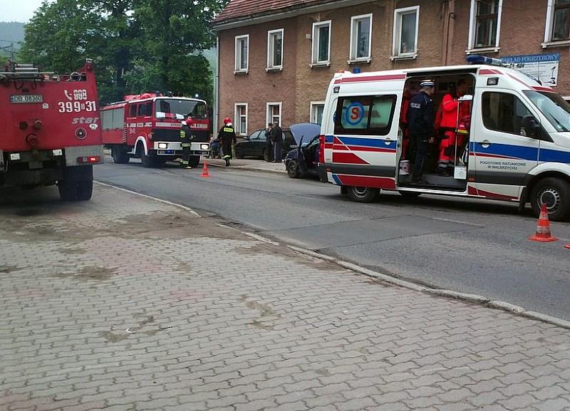 Wypadek koło kościoła