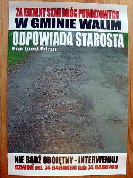 """""""Żenująca""""- starosta o akcji w Walimiu"""