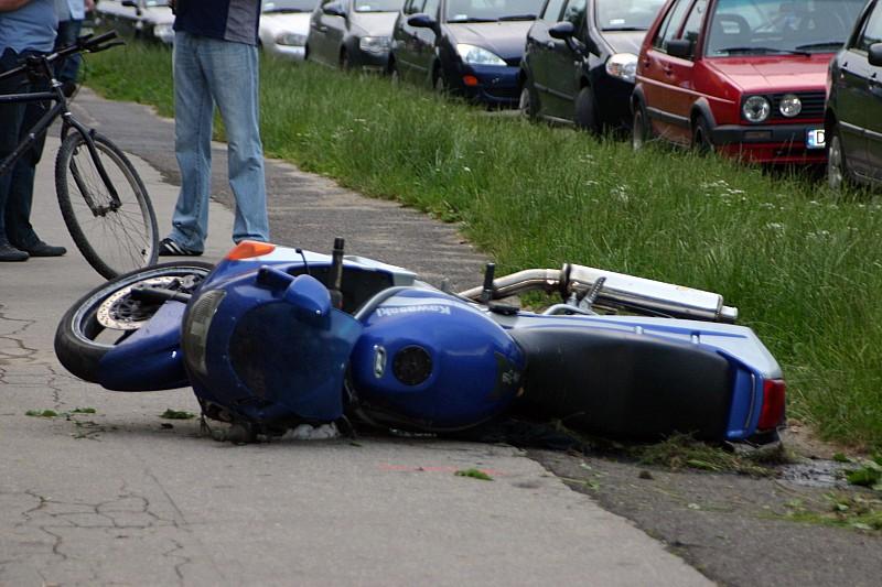 Motocyklista zginął pod domem