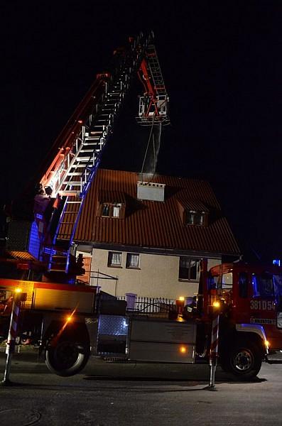 Pożar domu na Konradowie - foto/video