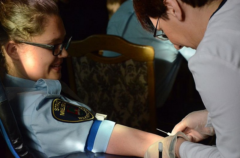Oddawali krew w ratuszu
