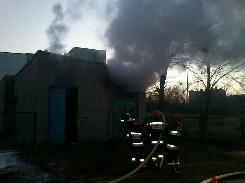 Pożar transformatora