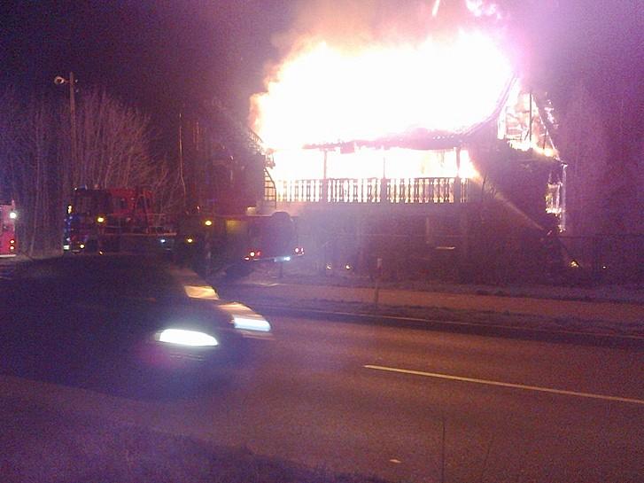 Pożar budynku przy ulicy Kłodzkiej - zdjęcia