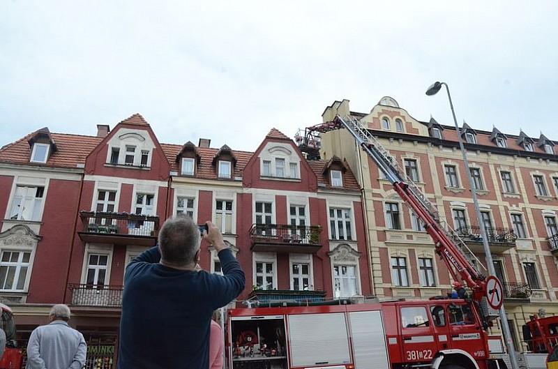 Pożar dachu – foto/video