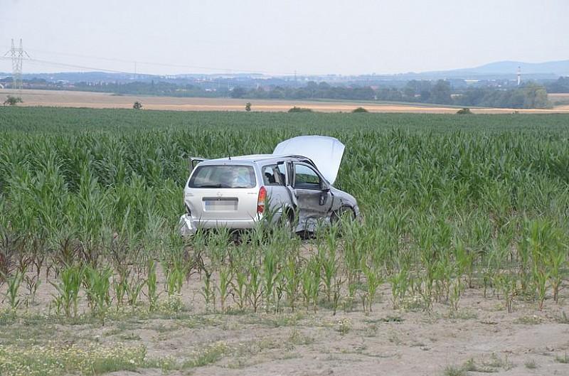 Po zderzeniu wjechał w kukurydzę
