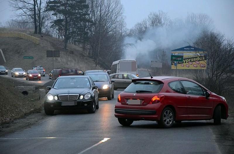 Protest i blokada drogi
