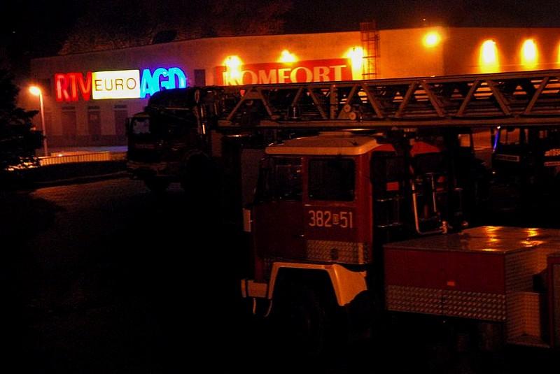 Pożar w markecie na Podzamczu