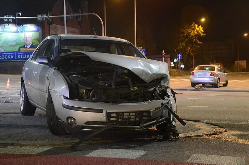Wypadek przy wjeździe do Wałbrzycha - foto