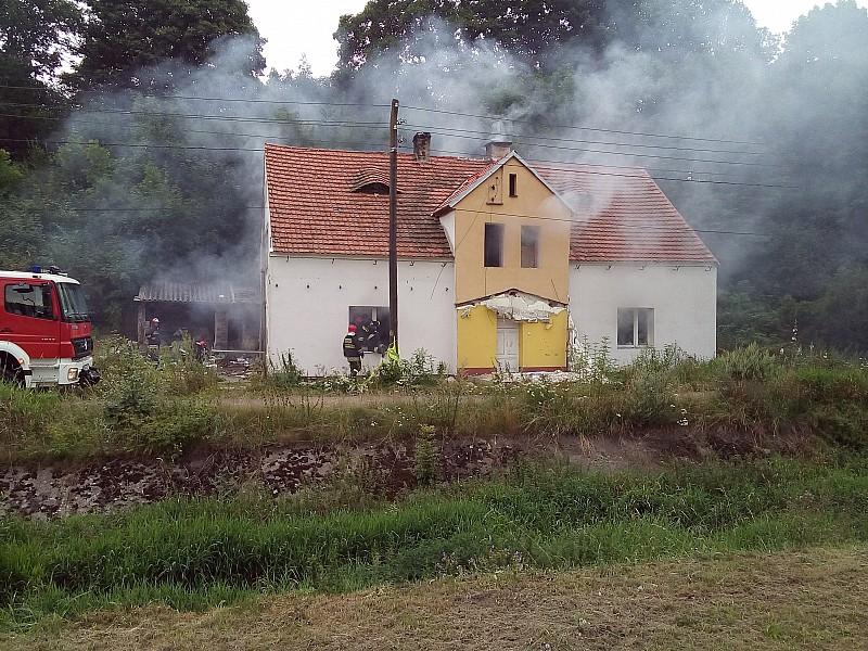 Pożar pustostanu na Piaskowej