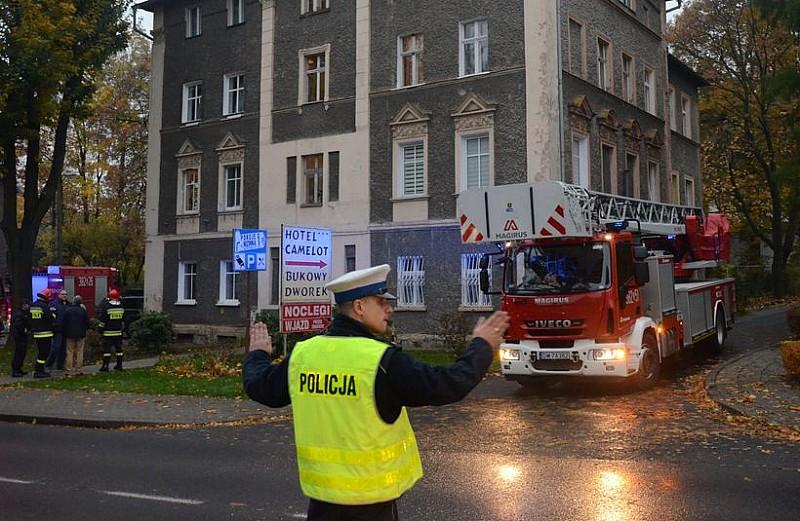 Wybuch przy ul. Kolejowej - foto/video