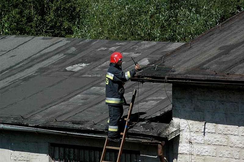 Pożar pustostanu na Sobięcinie